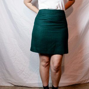 J Crew Wool Blend A-Line Skirt